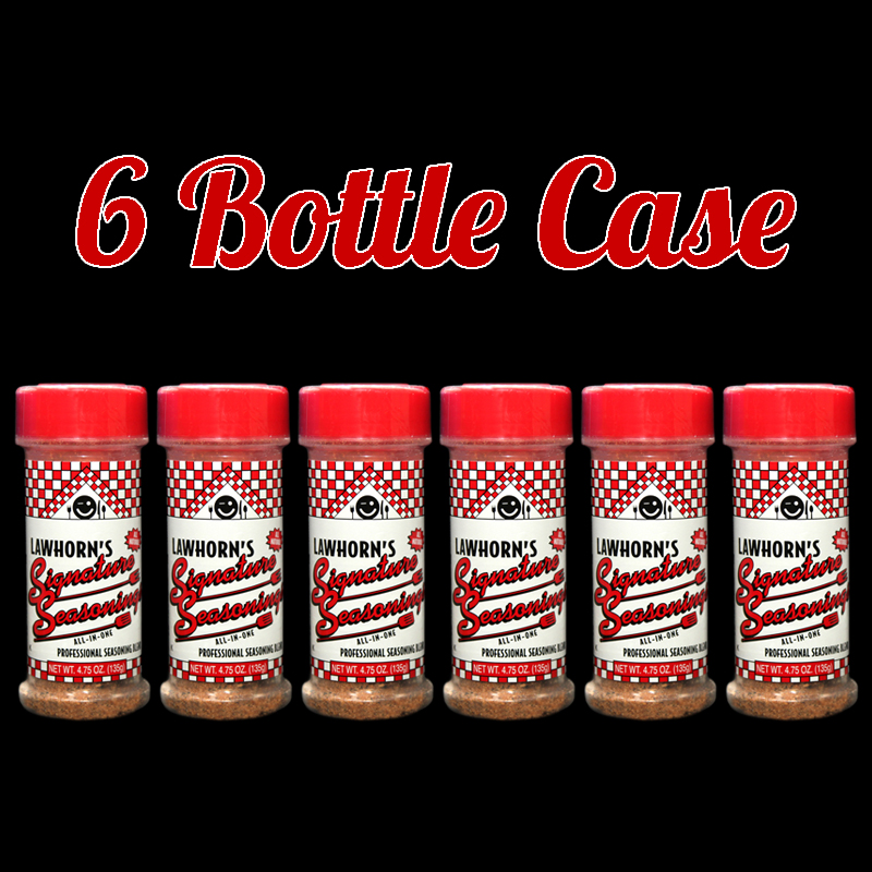 Six Bottle Case of Seasoning